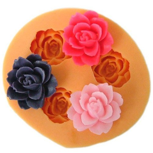 DGI MART Party Supplies Food Decorations DIY Silicone Mold Tray Silicone Decorative Cake Toppers Molds 1.8cm Cute Small Flowers Silicone Fondant Sugar Pudding Mini Mold Craft Mold DIY Cake Cookie Decorating Mold Tray