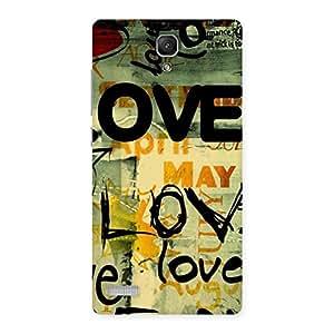Special Love Typo Multicolor Back Case Cover for Redmi Note Prime
