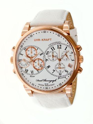 Uhr-kraft Uhr-kraft 27000/1rgw Dualtimer Mens Watch