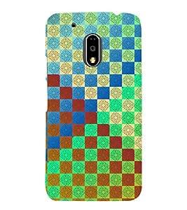 MULTICOLOURED TRADITIONAL CHECK PATTERN 3D Hard Polycarbonate Designer Back Case Cover for Motorola Moto G4 :: Motorola Moto G (4 th Gen)