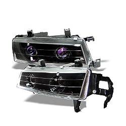 Honda Prelude 92 93 94 95 96 Projector Halo Headlights - Black (Pair)