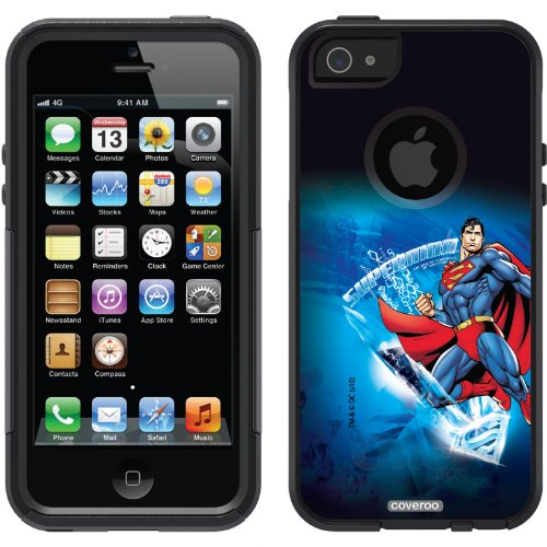 Special Sale Superman - Ice Design design on a Black OtterBox® Commuter Series® Case for iPhone 5s / 5