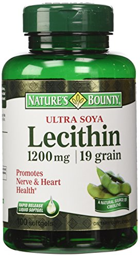Nature's Bounty Ultra Soya Lecithin, 1200mg, 100 Softgels (Pack of 4)