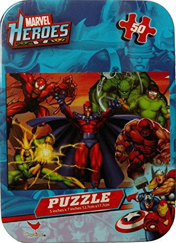 "Marvel Heroes 7"" X 5"" 50 Piece Collectors Tin - 1"