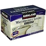 Kirkland Signature 10-Gallon Wastebasket Liners, 500 Bags (1, 500 Bags)