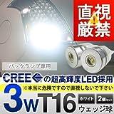 直視厳禁CREE社製SMDLED搭載3wT16ウェッジ球バックライト専用 2個セットホワイト