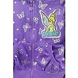 Disney Little Girls Fairies Tinkerbell Toddler Velour Hoodie & Pants Set