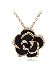 Silver Shoppee Wonder Flower 18K Yellow Gold Plated Cubic Zirconia Alloy Pendant