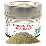 Green Tea Sea Salt, Non-GMO, 3.9 oz, Gourmet Salt