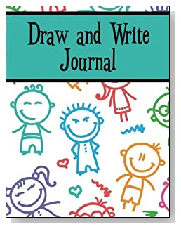 Draw and Write Journal For Boys - Silly stick kids make a playful cover for this draw and write journal for younger boys.