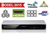 PANASONIC DMP-BDT270 4K/2K UHD Upscaling - 2D/3D- Built-in Wi-Fi - Multizone All Region Code Free DVD Blu ray Player - 1 USB, 1 HDMI , 1 ETHERNET Connections + 2 meters HDMI Cable Included. 100-240V 50/60Hz Comes with UK Lead