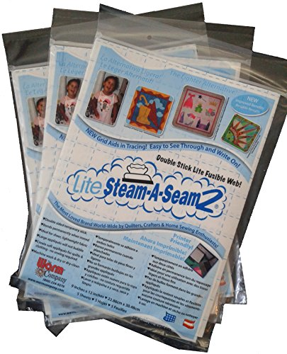 Just Released Steam-A-Seam 2 - Applique' Interfacing Fusible Lite Web - 3 Pack (15 Sheets) (Steam A Steam 2 compare prices)