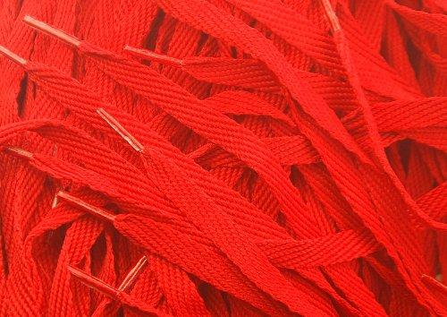Flat 10mm x 140cm Red Shoe/Fashion Trainer Laces