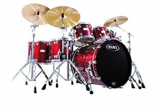 Mapex Saturn Series - Plus Bass Fusion Pop 22, 7-Piece Shell Pack, Cherry Sparkle