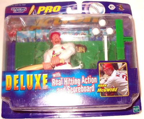 1998 - Hasbro - Starting Lineup - Pro Action Baseball - Mark McGwire #25 - St. Louis Cardinals - Deluxe Set - Real Hitting Action & Scoreboard - Rare - Vintage - Limited Edition - Collectible