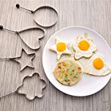 God's Kitchen 5-Shapes Fried Egg Rings Pancake Mold Cooking Tools for Making Cakes, Biscuits and Other Delicious Food. BEST PRICE. BEST QUALITY