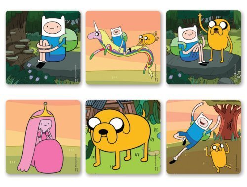 "ADVENTURE TIME - Adventure Time Birthday Party Favor Sticker Set Consisting of 45 Stickers Featuring 6 Different Designs Measuring 2.5"" Per Sticker - 1"