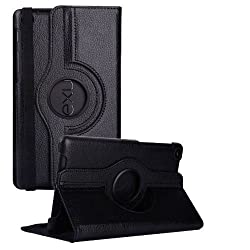 Nexus 7 2013 (2nd Generation) Case, Stand Flip Cover 360 Degree Series PU Leather Premium 360 Degree Rotating Stand Flip Cover With auto wake sleep (Black)
