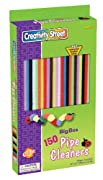 Chenille Kraft Big Box Of Pipe Cleaners - Jumbo Stems Assortment Idea Book, 150-Piece