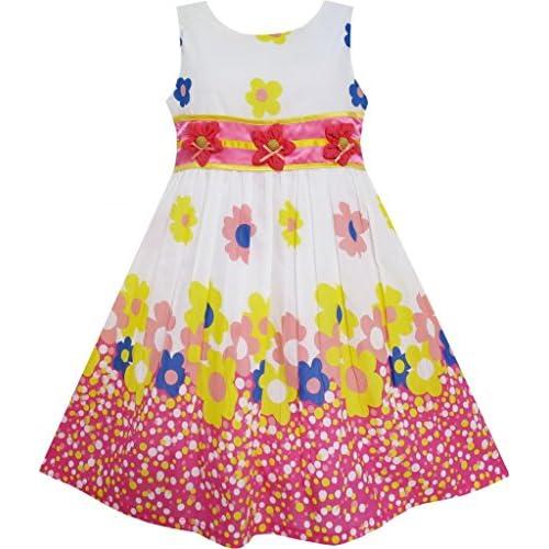 FH82 こどもドレス キッズドレス フラワードレス 3 ダンス カラフル ホリデー 110cm