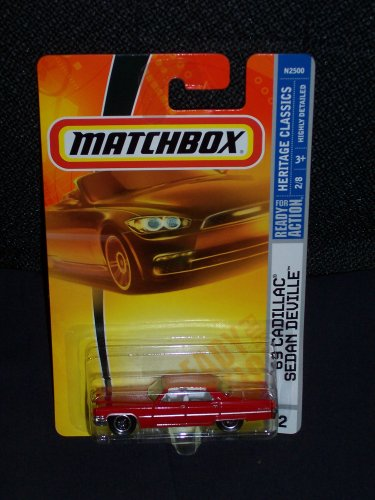 Matchbox 2008 Heritage Classics 2 of 8 '69 Cadillac Sedan DeVille Red 2008 2 - 1