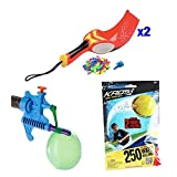 Water Balloon Launcher Battle Set with Tie Knot Filler, Extra Balloons