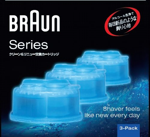 Braun Clean & Renew Cleaning Solution Cartridge Only Ccr3cr (Pack of 3) [Htrc3]