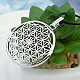 Gepardini-Blume-des-Lebens-Halskette-mit-SWAROVSKI-Edition-Kristalle-Handarbeit-hochglanzpoliert-Silber-Rodiniert