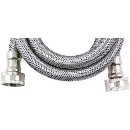 Savard Wms8-C000680 Braided 8-Feet 1/2-Inch Washing Machine Connector, Stainless Steel front-568554