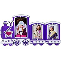 Priya Collections Glass 4-in-1 Collage Photo Frame With Frame (24 Cm X 40 Cm X 3 Cm, Blue)