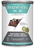 Designer Protein 100% Premium Whey Protein Powder, Gourmet Chocolate, 12 Ounce Canister