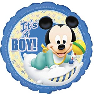 "Amazon.com: Mickey Mouse It's a Boy! 18"" Baloon: Toys & Games"