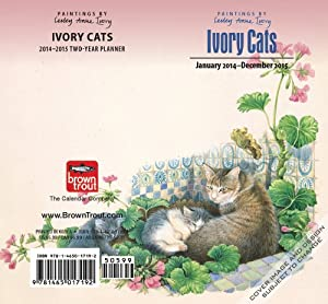 Ivory Cats 2014-2015 Two-Year Planner: Amazon.co.uk: Lesley Anne Ivory