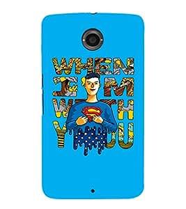 EPICCASE Superheros love Mobile Back Case Cover For LG Nexus 6 (Designer Case)