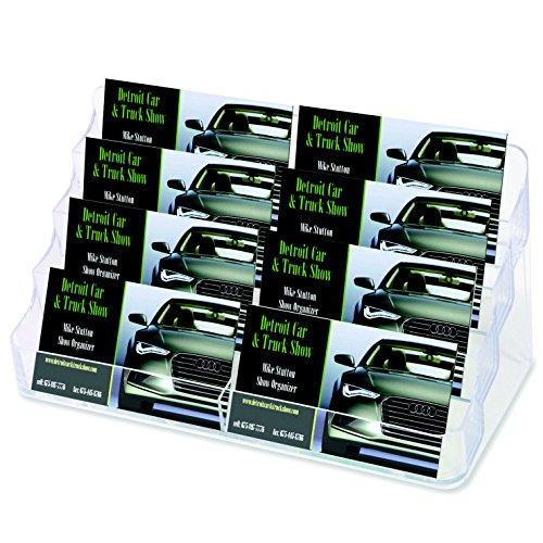 Source One Llc 8 Pocket Desktop Clear Acrylic Business Card Holder (Bc-8P)