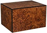 Chateau Urns Society Collection, Large Adult Cremation Urn, Burl Wood Finish
