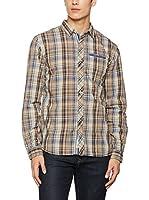 SCOTFREE Camisa Hombre (Beige / Marrón / Azul)