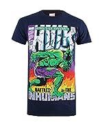 ZZ-Marvel Camiseta Manga Corta King Size Hulk (Azul Marino)