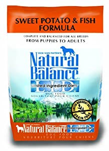 Dick Van Patten's Natural Balance Limited Ingredient Diets Sweet Potato and Fish Formula Dry Dog Food, 4.5-Pound Bag
