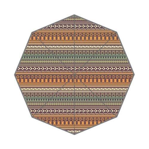 "Anhome Retro Aztec Tribal Geometric Print Auto Folding Foldable Umbrella 25.6""X 21.7""X 13.8"" front-920860"
