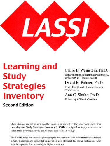Lassi: Learning and Study Strategies Inventory, 2nd Edition