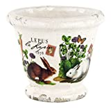 Michel Design Works Decorative Ceramic Planter, Bunnies