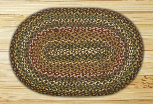 Earth Rugs C- 51 Oval Rug, 20 x 48