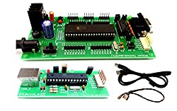 ATMEL 8051 Development Board with AT89S52, MAX232 and AVR & 8051 USB ISP Programmer