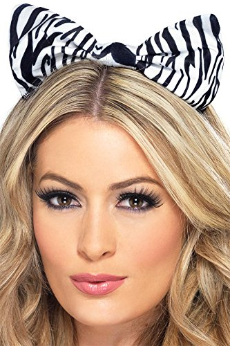 Fever Women's Zebra Bow On Headband On Display Card, Multi, One Size