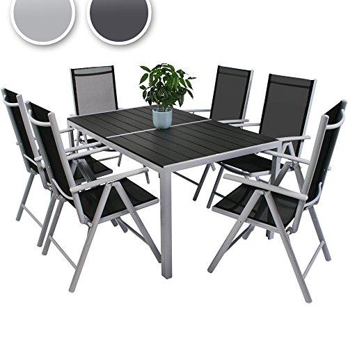 Miadomodo ensemble de jardin 7 pi ces table l l h - Ensemble jardin plastique ...
