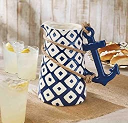 Anchor Pitcher By Mud Pie by Mud Pie