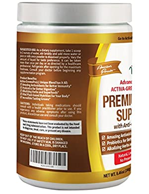 Activa Naturals Greens Super Food Supplement, Chocolate, 240 Gram