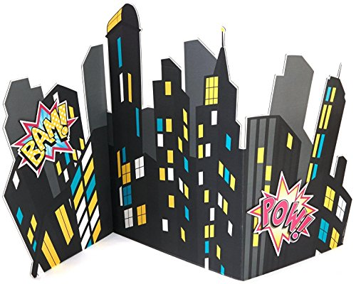 Birthday Express - Superhero Girl City Scape Standup