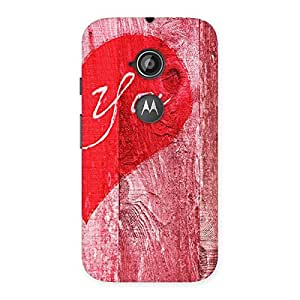 Impressive Pink You Multicolor Back Case Cover for Moto E 2nd Gen